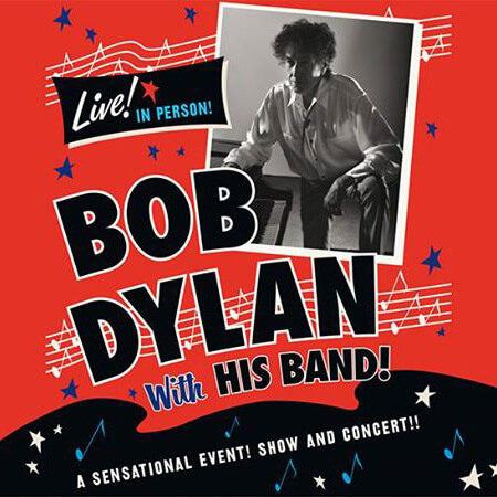 Plakat: Bob Dylan with his Band in Mainz